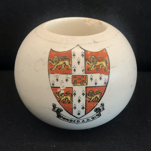 British Vintage Ceramic Colton Match Striker with Crest/Coat of Arms and Lion