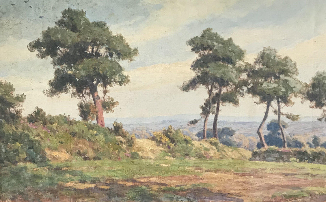 French Landscape Painting of Mountains Bought near Marseille For Sale