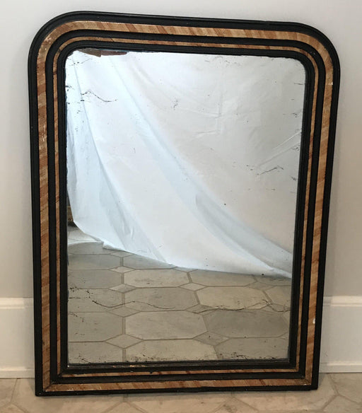 Early French Faux Painted Mirror with Original Glass