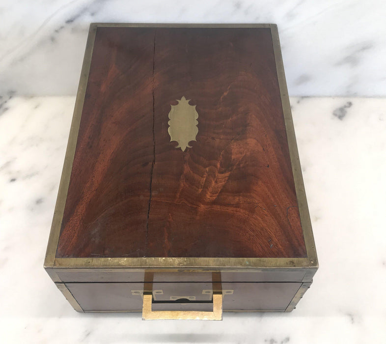 To Buy: Very Early Georgian British Box with Brass Pulls and Strapping