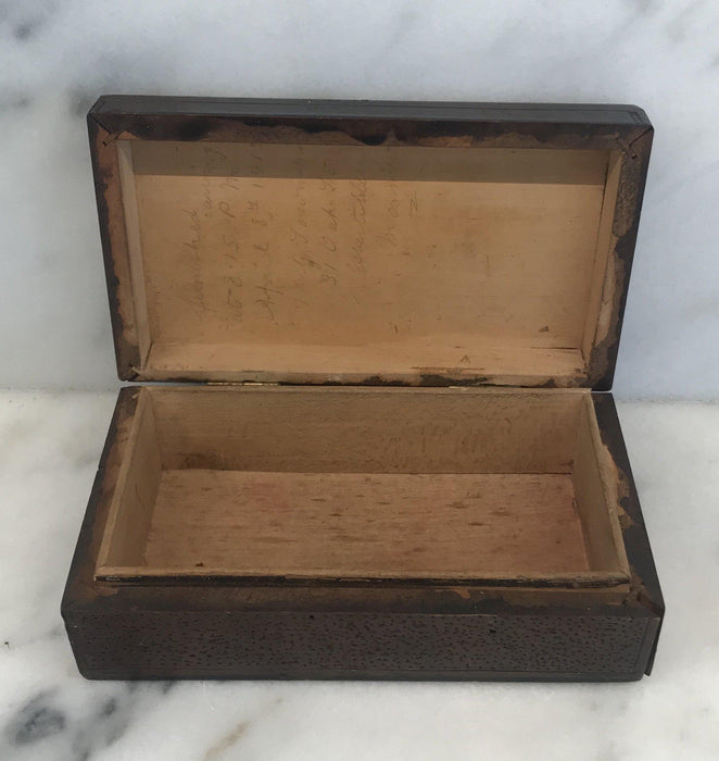 Unique British Hand Carved Box from 1915