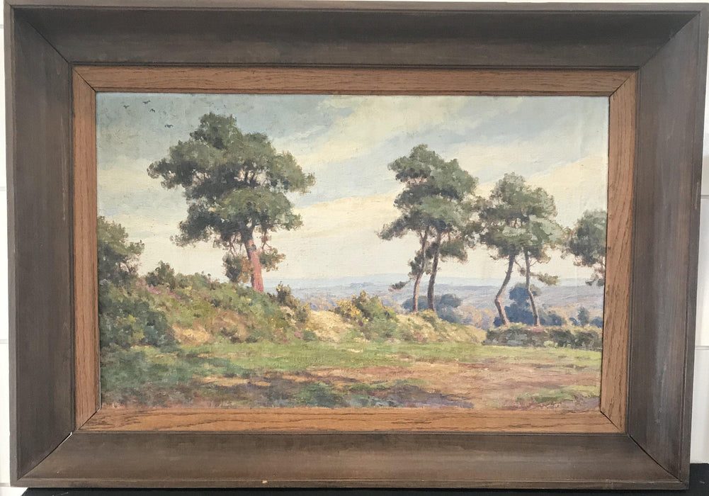 French Landscape Painting of Mountains Bought near Marseille To Buy