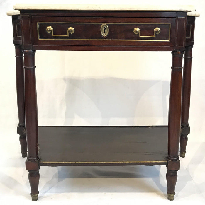 For sale: French Louis XVI Style Early Marble Top Console Table