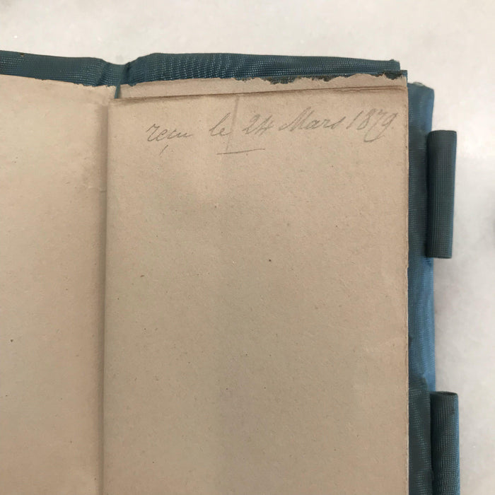 antique French (Bone?) Notebook Dated 1879