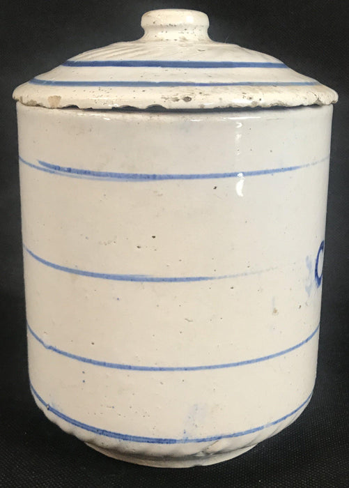 To sell: Vintage Blue and White Ceramic Coffee Canister