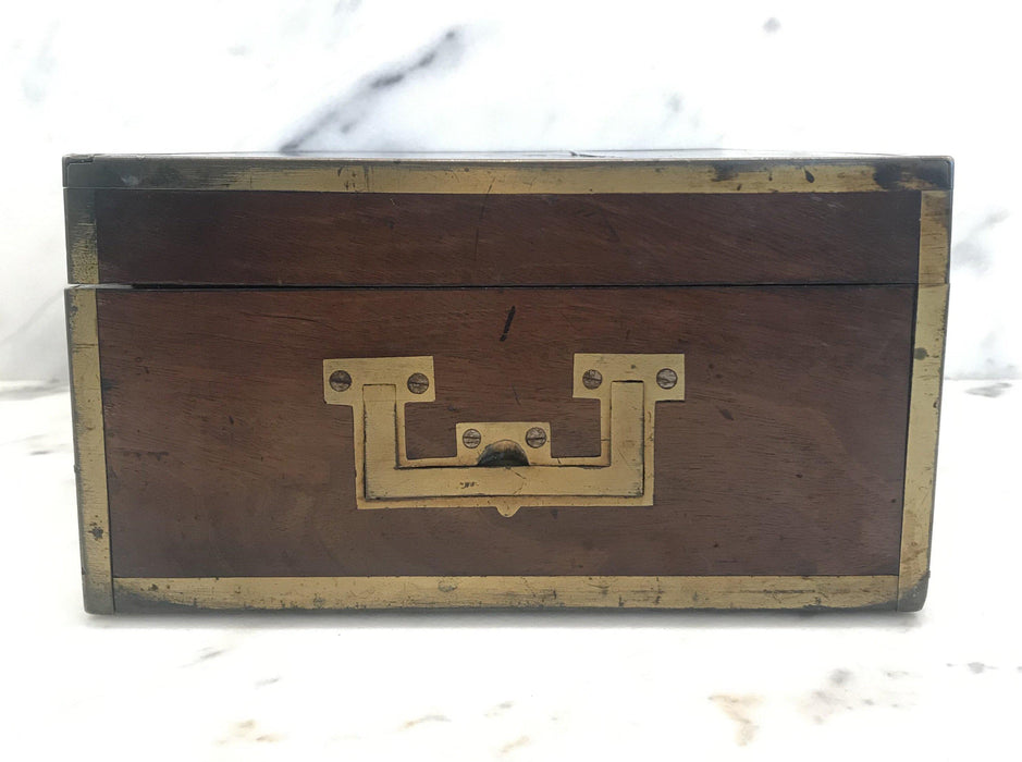 Very Early Georgian British Box with Brass Pulls and Strapping To Sell