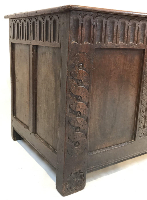 Unusual beautifully carved coffer for sale