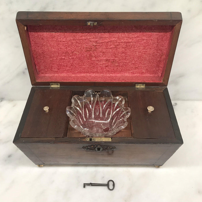 British Regency Tea Box with Original Key For Sale
