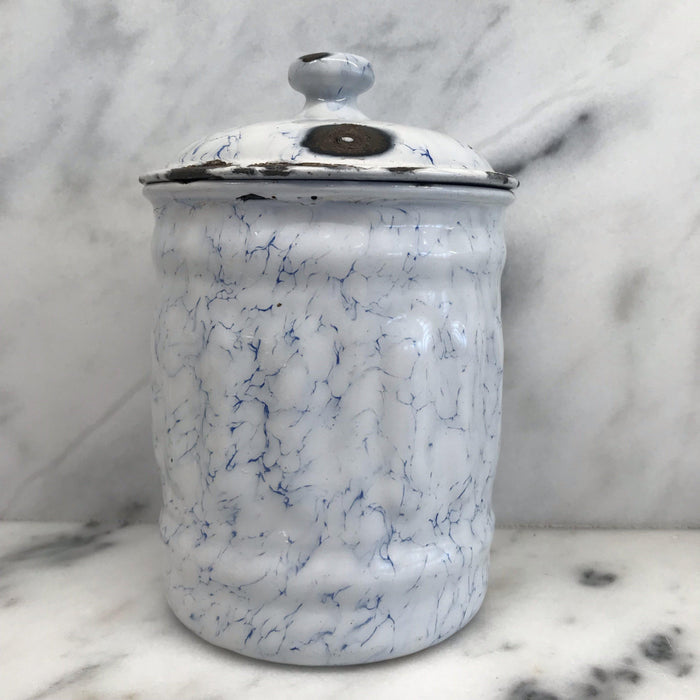 French Canister Three Piece Set Blue and White Buy This