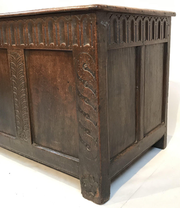 Rare Antique Early 18th Century British Coffer for sale