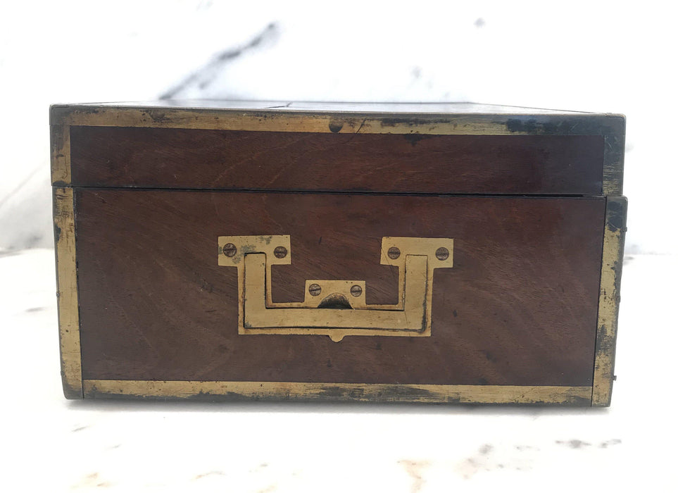 Buy This: Very Early Georgian British Box with Brass Pulls and Strapping