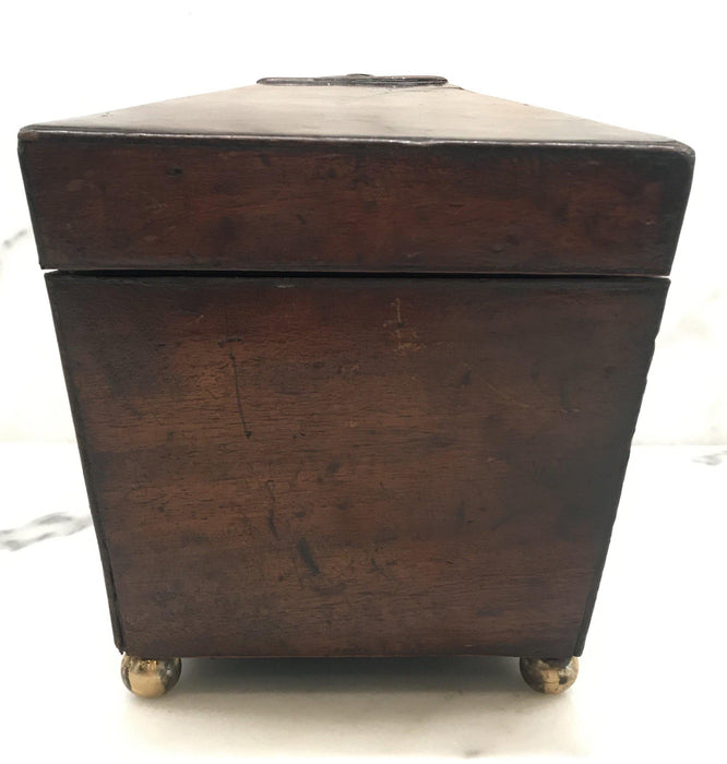 Unique British Regency Tea Box with Original Key
