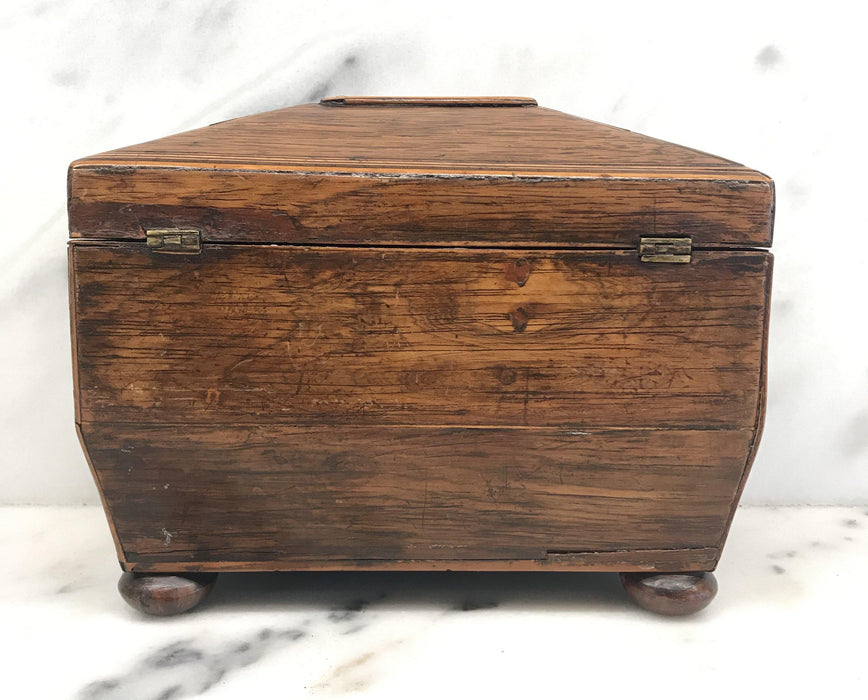Antique Early Georgian British Tea Box For Sale