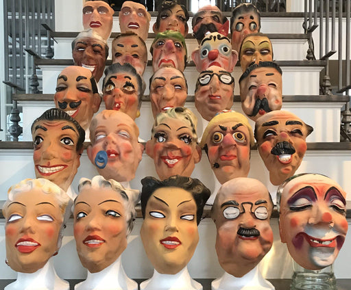 Fabulous French Vintage Character Masks (Set of 25) from the 1940's and later