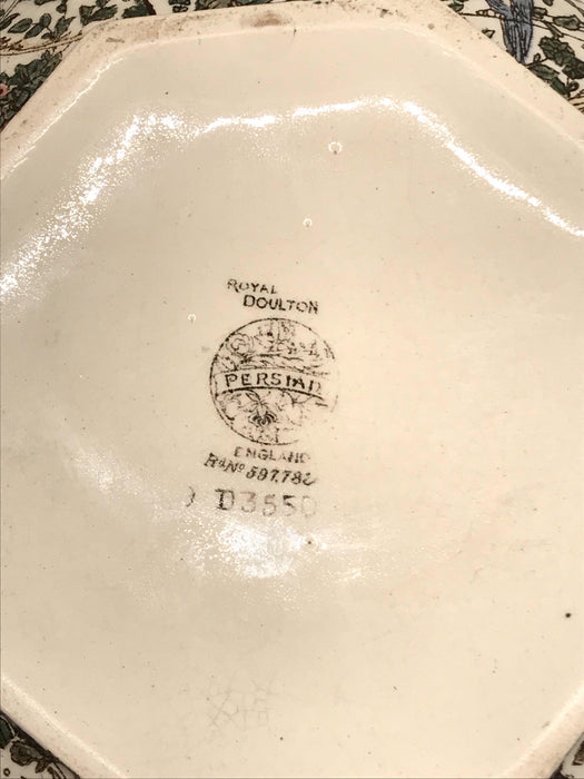 Unique British Royal Doulton Bowl: Persian Pattern For Sale