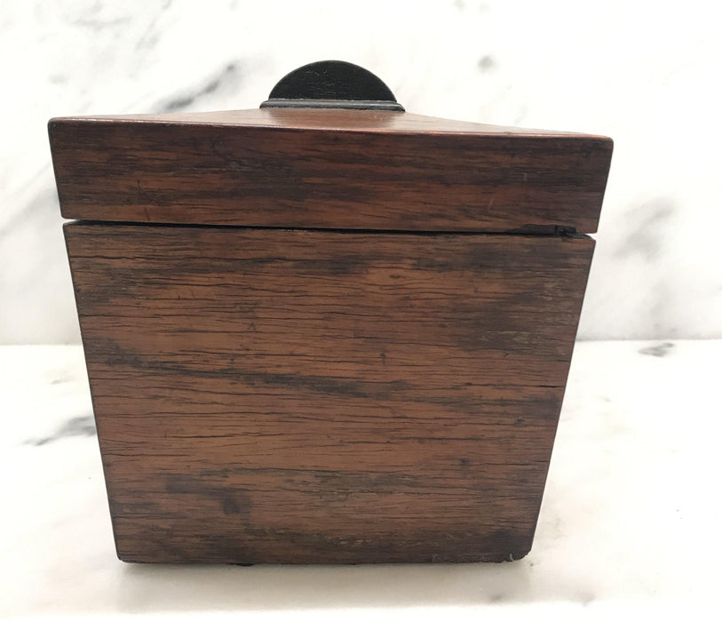 Antique British Regency Rosewood Tea Box with Original Lining