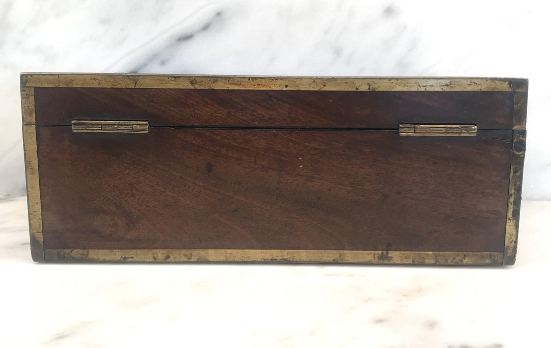 Very Early Georgian British Box with Brass Pulls and Strapping To Buy