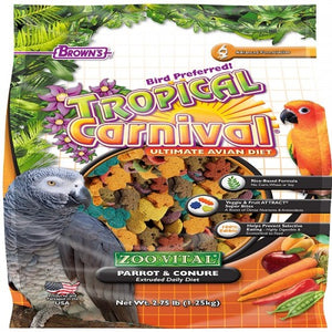 BROWNS EXTRUDED PARROT&CONURE FOOD 1.25KG
