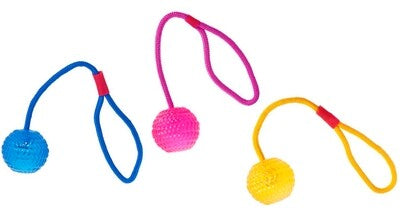 Good4Fun TPR- Ball with rope, 7 cm