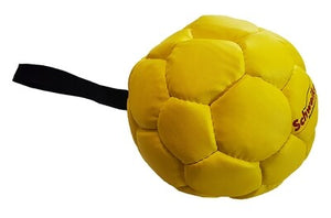 Leather Ball with grip, yellow,14 cm, Air