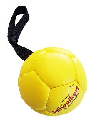 Leather Ball with grip,yellow, 8 cm, Air