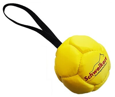 Leather Ball with grip,yellow, 10 cm, Air