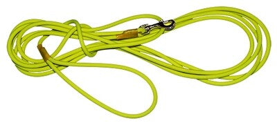 Tracking Leashes Biothane 6 mm round, neon yellow 10m