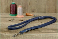 "LEATHER ROPE ""WELTED"" SILVER COLORS"