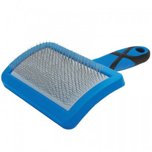 GROOM PROFESSIONAL CURVED SOFT SLICKER BRUSH-MEDIUM