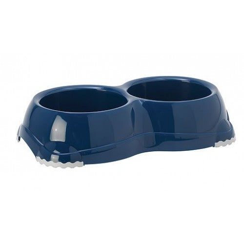 MODERNA DOUBLE SMARTY BOWL 2x330ML BLUE