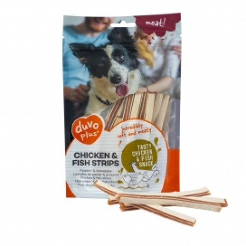 DUVO+ DOG SNACK CHICKEN&FISH STRIPS 80G