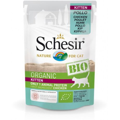 SCEHSIR CAT POUCH BIO- KITTEN CHICKEN 85GM (C450)