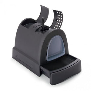 IMAC CAT LITTER BOX [CAT TOILET] -40 x 56 x 42.5 cm-BLACK-83491