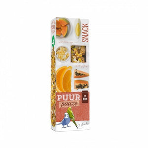 WITTE MOLEN PUUR PAUZE BUDGIE STICK PAPAYA & ORANGE 60GM