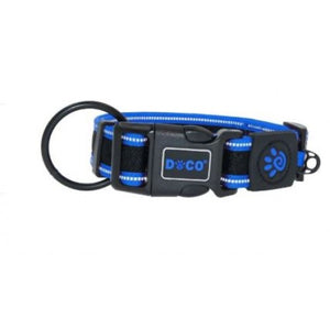 DOCO Athletica Low Strain Mesh Collar (DCA007XL)-Blue -XL -3.8 x 44-70cm