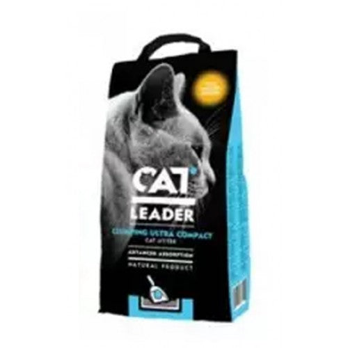 GEOHELLAS CAT LEADER CLUMPING ULTRA LITTER -BABY POWDER-5 KG