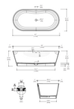 "Blu Bathworks BT0304.01 Coco 67"" blu∙stone™ Freestanding Bathtub"