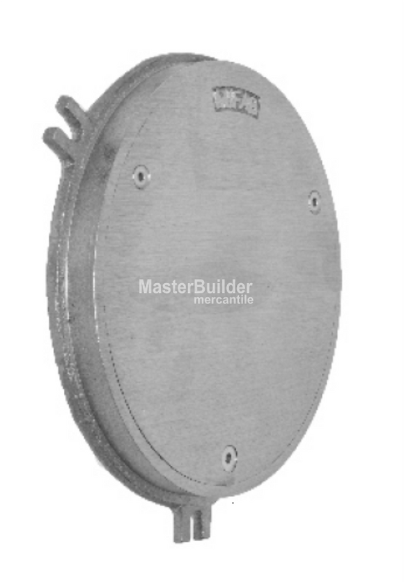MIFAB C1400-R-1 Round Nickle Bronze Smooth Access Cover and Frame for Wall Applications