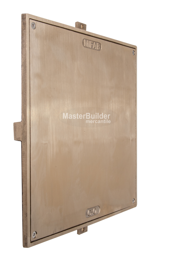 MIFAB C1400-S-1 Square Nickle Bronze Smooth Access Cover and Frame for Wall Applications