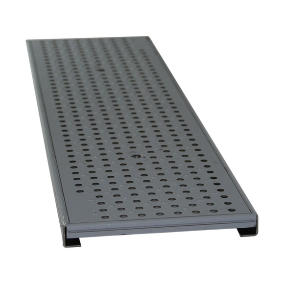 NDS DS-226 Dura Slope 2' Perforated Stainless Steel Metal Grate, ADA Heelproof, Pedestrian Traffic Rated