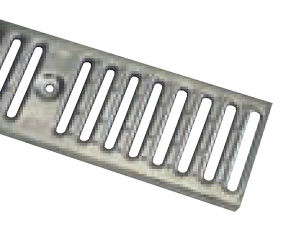 "Zurn P6-FS40 6"" Wide Fabricated 304 Stainless Steel Slotted Grate Class A"