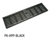 "Zurn P6-HPP-BLACK 6"" Wide Heel-Proof Linear Slotted HDPE Grate Class A Black"