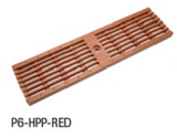 "Zurn P6-HPP-RED 6"" Wide Heel-Proof Linear Slotted HDPE Grate Class A Red"