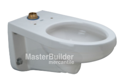 Zurn Z5615-BWL-AM HET Elongated Wall Hung EcoVantage® Flush Valve Toilet with Antimicrobial Glaze