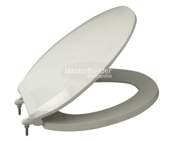 Zurn Z5958SS-EL Elongated Standard White Closed Front Toilet Seat With Cover