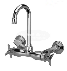 "Zurn Z841A2-XL Service Sink Faucet with 3-1/2"" Gooseneck and Four Arm Handles"