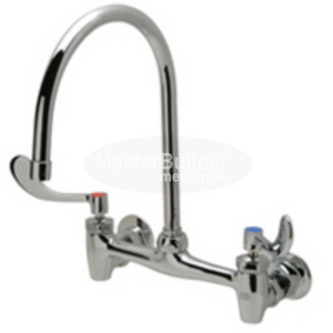 "Zurn Z843C4-XL Sink Faucet with 8"" Gooseneck and 4"" Wrist Blade Handles Lead-Free"