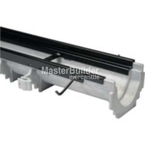 "Zurn Z886-HD-8608 6.75"" Wide x 80"" Long Presloped HDPE Perma-Trench Drain Channel w/ Heavy-Duty HDF Frame #8 Section"