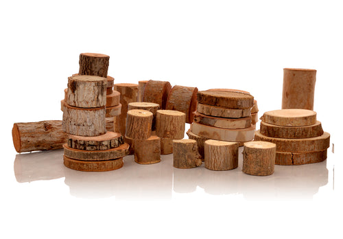 Wooden Logs Construction Set