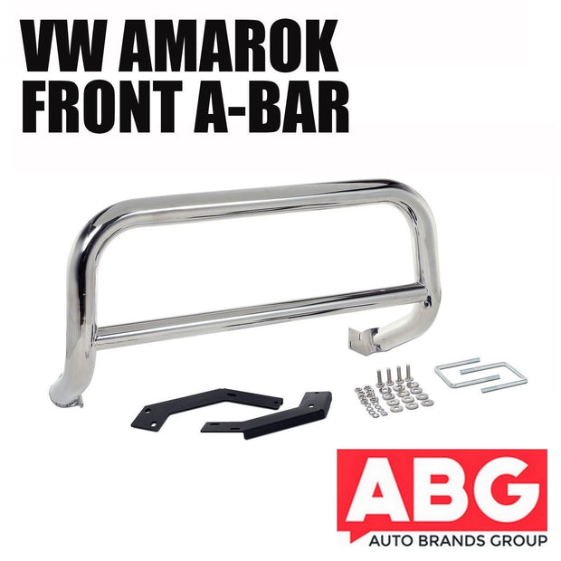 VW Amarok 2010 On Front A-Bar Chrome Nudge Bull Bar Polished Stainless Steel